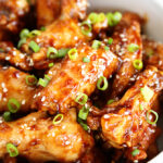 Asian Sticky Wings close up