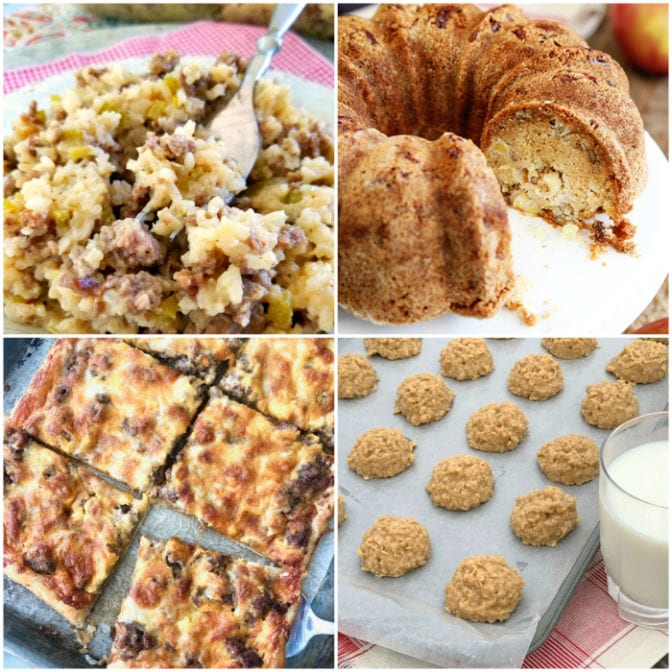 meal plan Monday collage of 4 featured recipe images