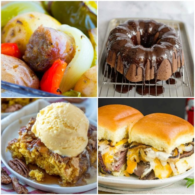 meal plan Monday collage of 4 recipe images