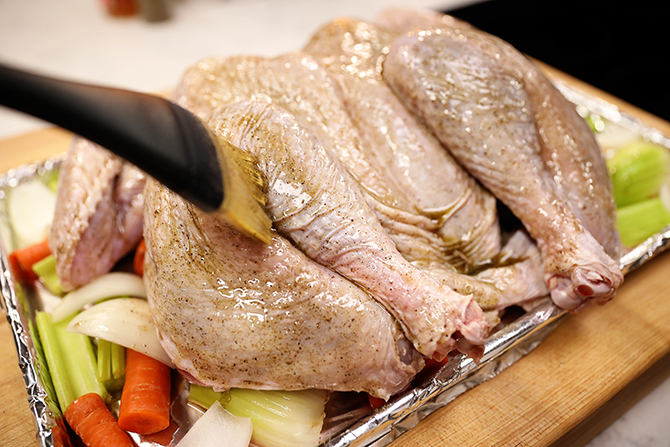 The secret to tender, juicy, delicious turkey that's also quick and easy isn't really a secret at all. All you have to do it spatchcock (or butterfly) the turkey! My Juiciest Spatchcocked Turkey is the perfect recipe to get juicy turkey with crispy skin in about half the time as the traditional method. Thanksgiving will never be the same!