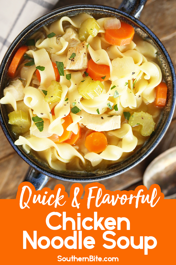 Chicken Noodle Soup for Pinterest