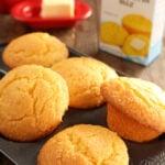 Jazzed up Jiffy Cornbread in muffin pan
