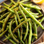 Roasted Green Beans in serving bowl