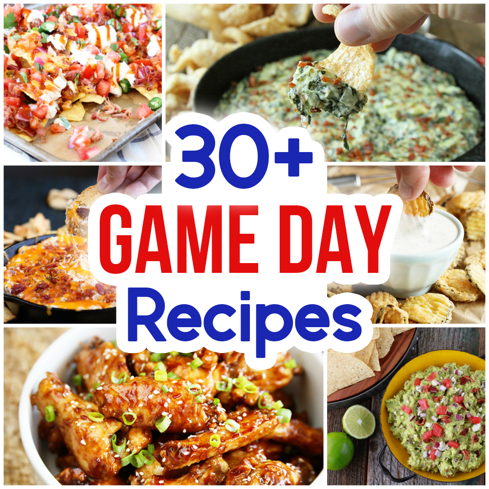 30+ Game Day Snacks