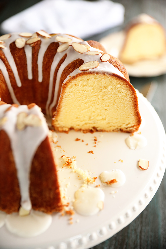 Slice of Almond Pound Cake