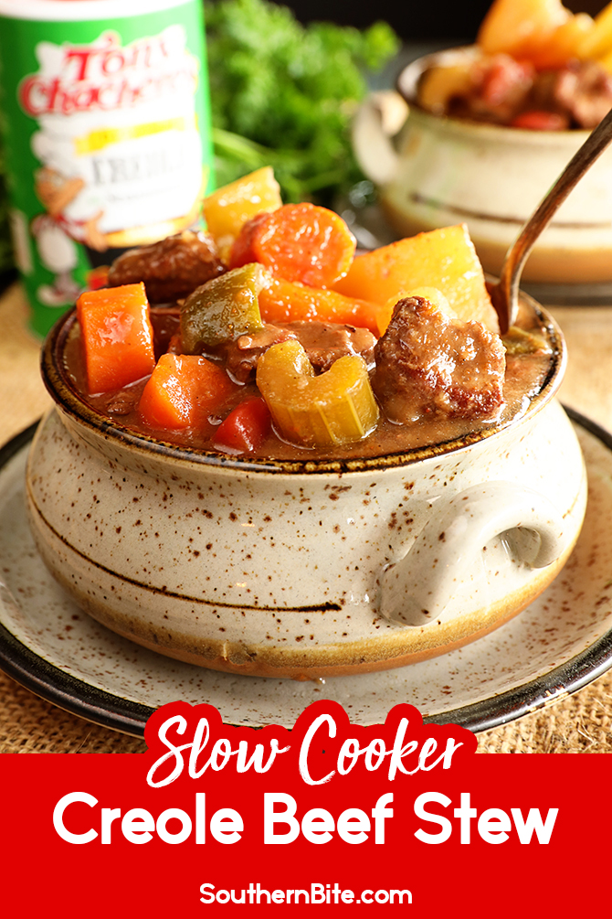 Slow Cooker Creole Beef Stew for Pinterest