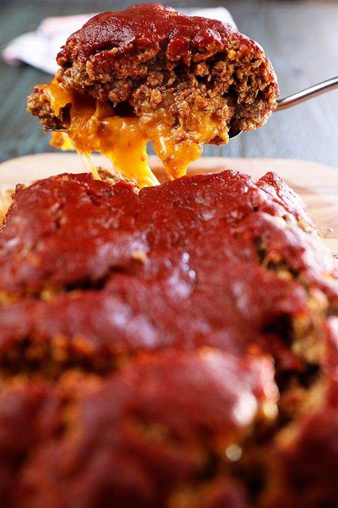 Ultimate Enchilada Meatloaf with sauce