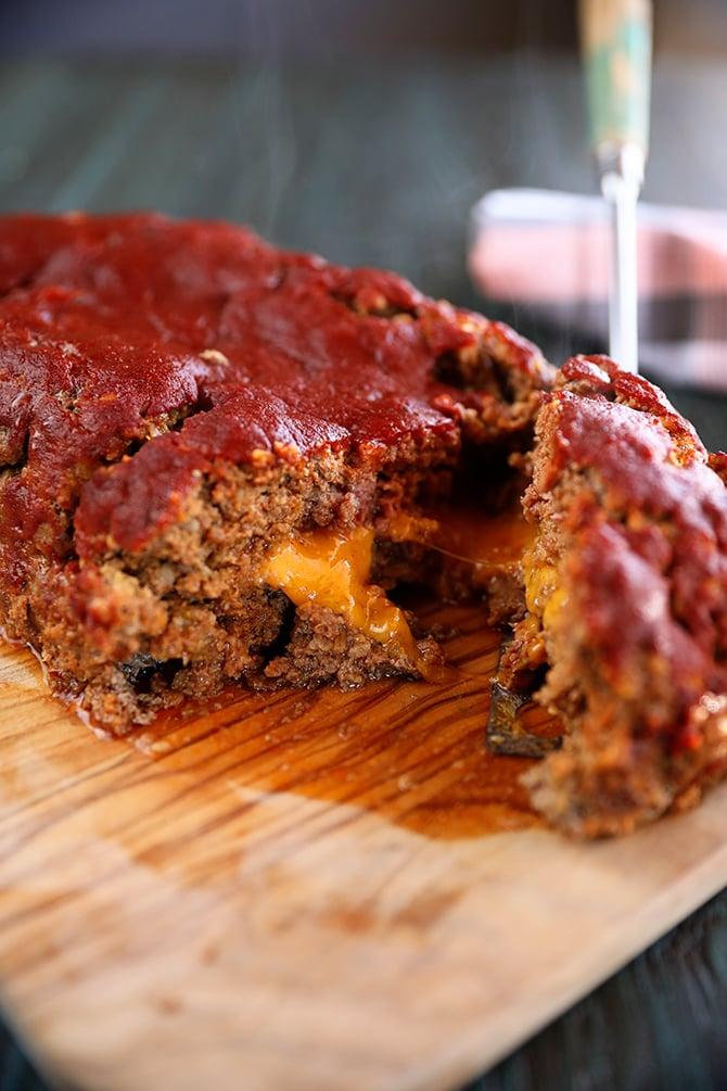 Ultimate Enchilada Meatloaf sliced