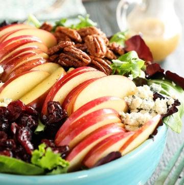 Apple Pecan Salad with Apple Cider Vinaigrette