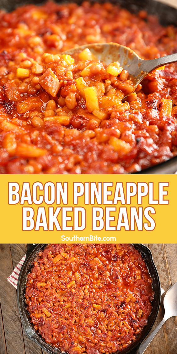 Bacon Pineapple Baked Beans image for Pinterest