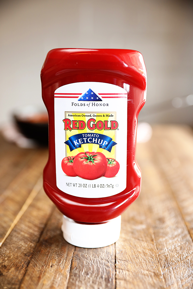 Bottle of Red Gold Ketchup