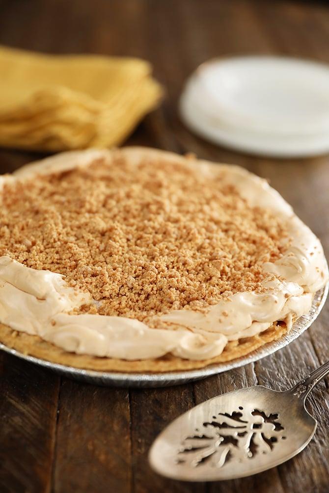 Whole Peanut Butter Meringue Pie