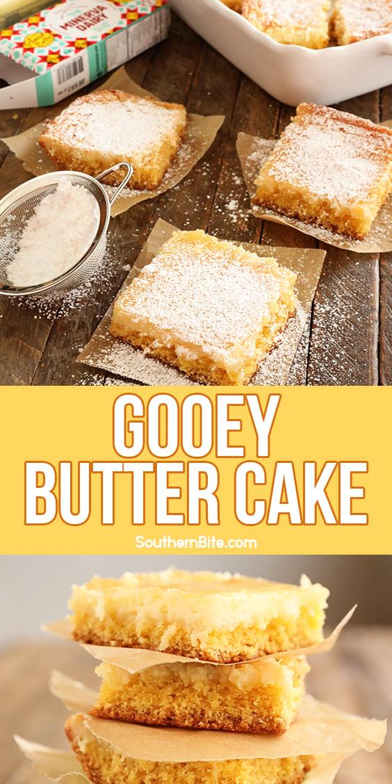Gooey butter Cake image for Pinterest