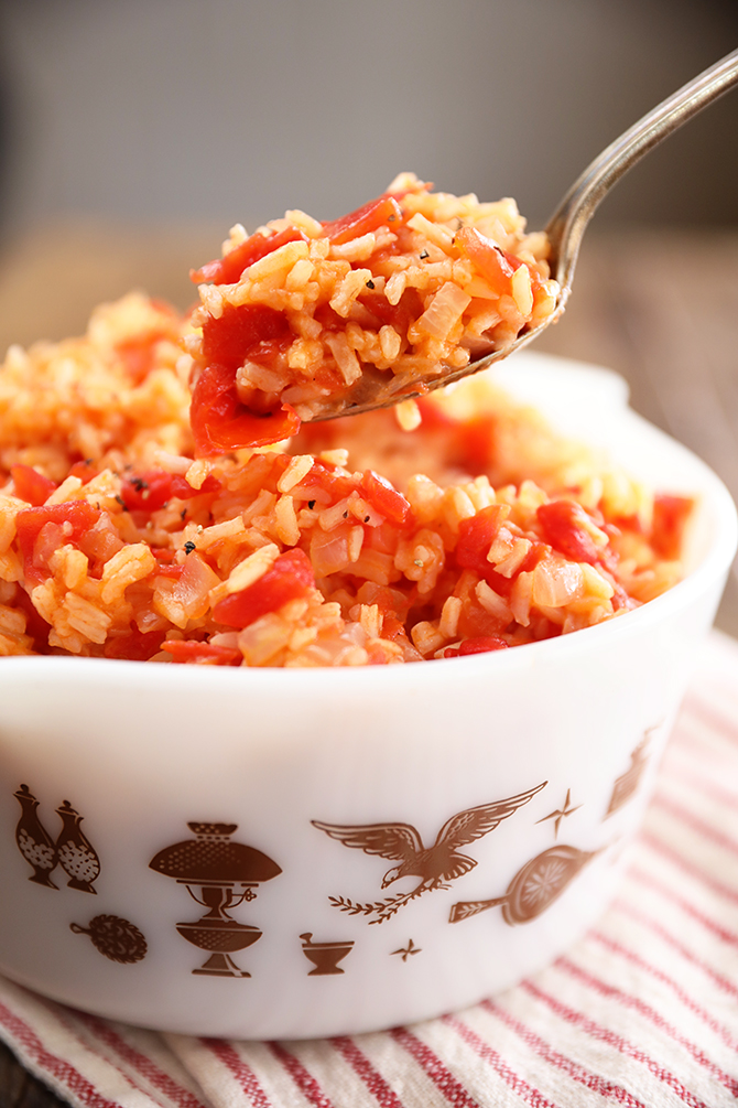 Scoop of Tomatoes and Rice