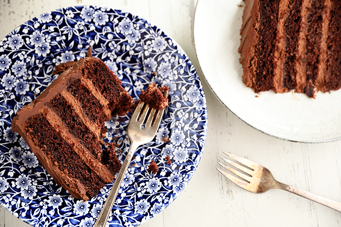Triple Chocolate Mousse Cake