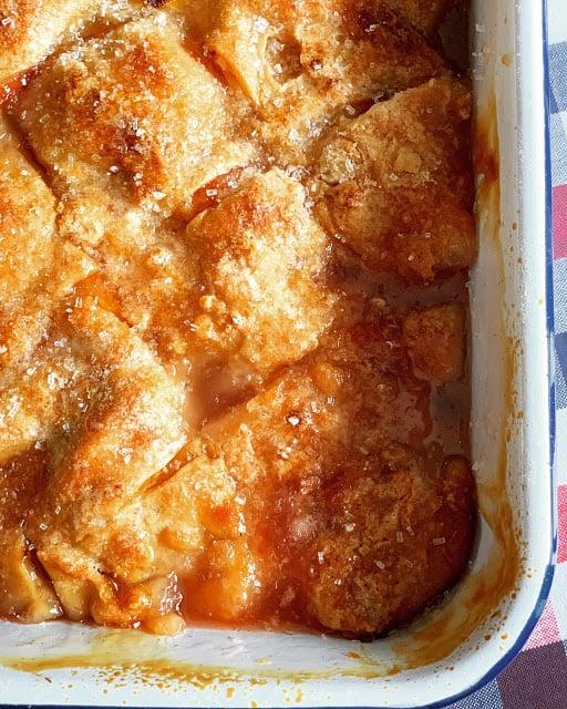 Peach Dumpling Cobbler