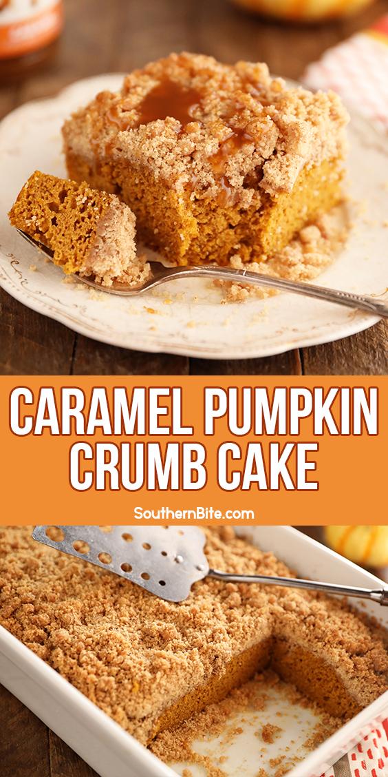 Caramel Pumpkin Crumb Cake - Images for Pinterest
