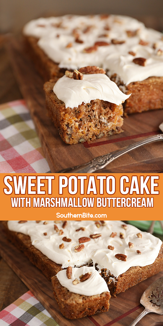 Sweet Potato Cake with Marshmallow Buttercream