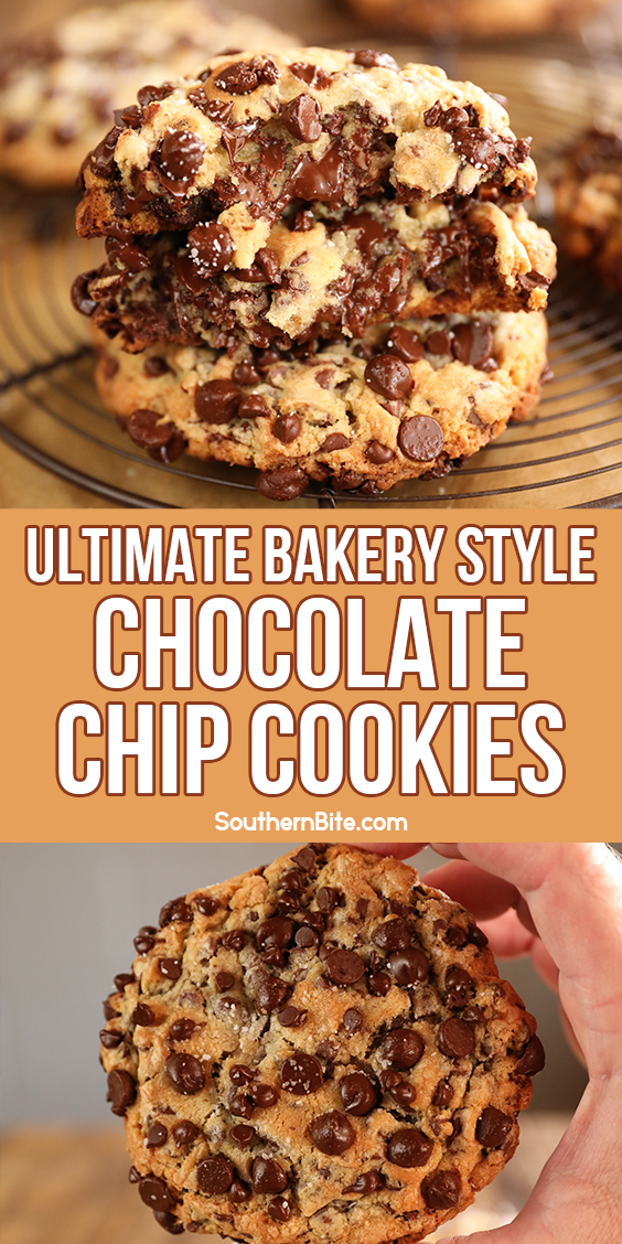 chocolate chip cookies - collage for pinterest