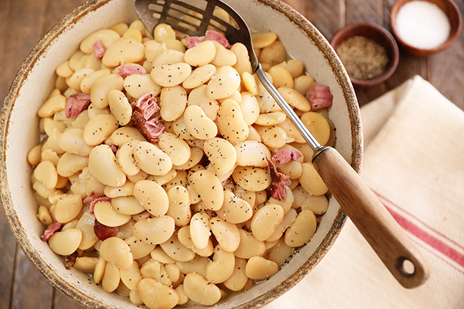 Bowl of Southern Lima Beans