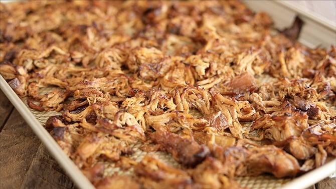 Sheet pan with Slow Cooker Pork Carnitas