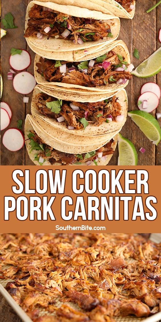 Slow Cooker Pork Carnitas - Image for Pinterest