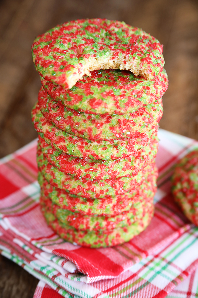 Stack of Chewy Sugar Cookies