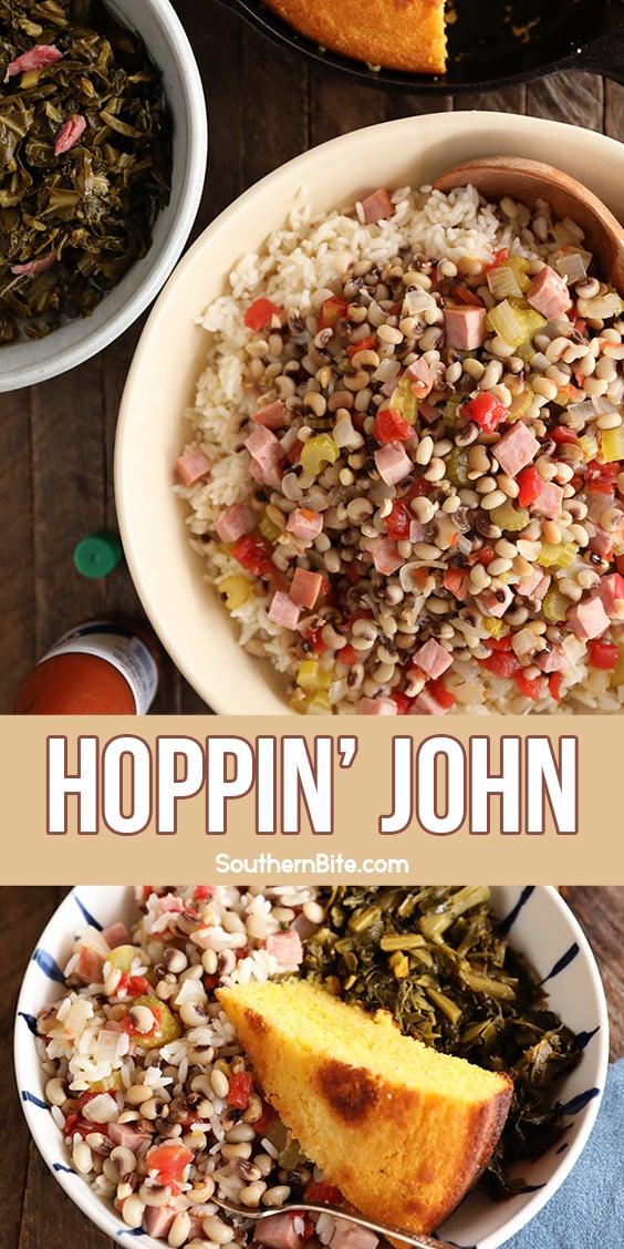 Hoppin' John Over Rice - image for Pinterest