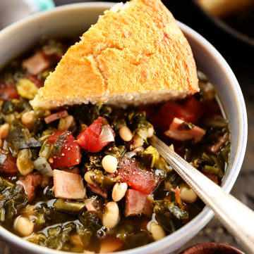 Collard Green Soup with Ham and Beans
