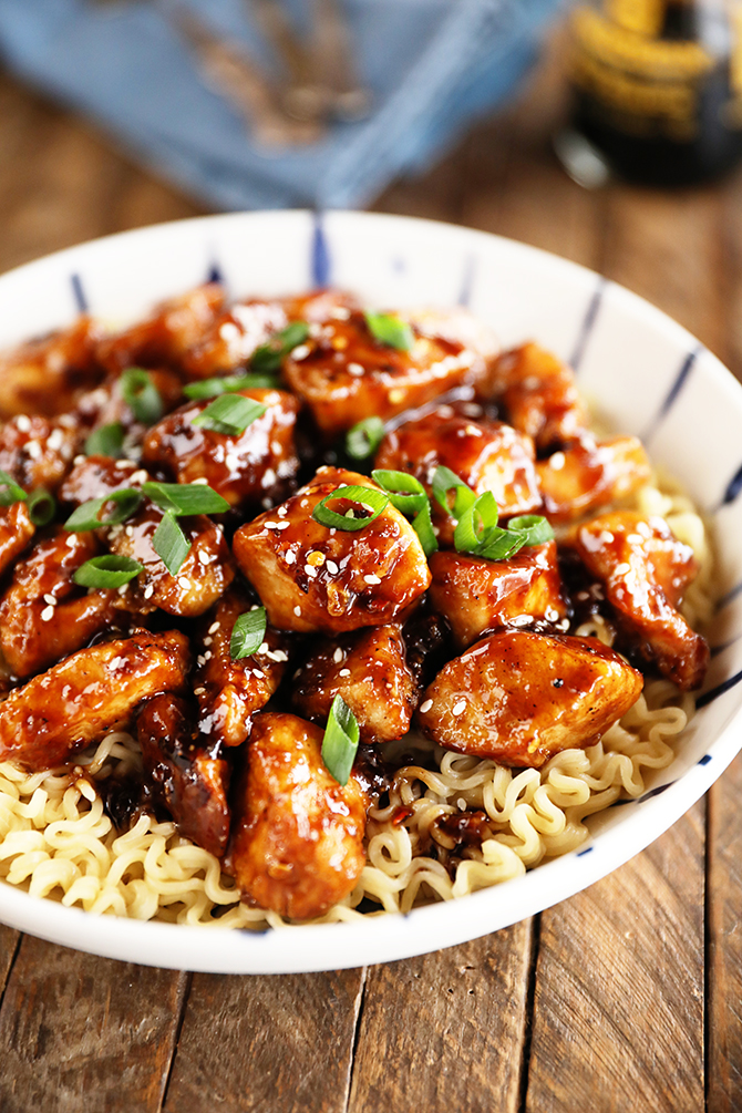 Bowl of Easy General Tso's Chicken