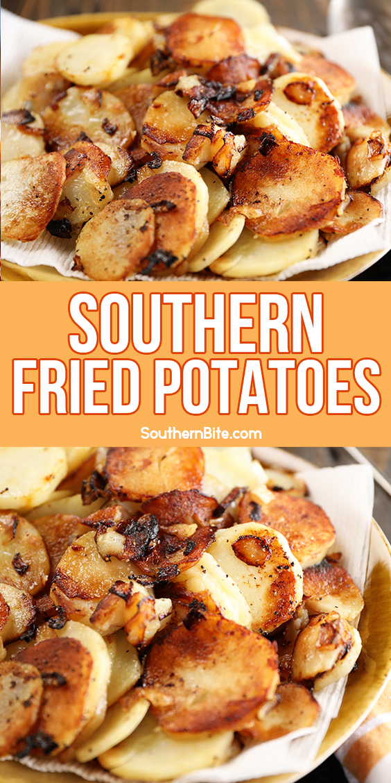 Southern Fried Potatoes - image for Pinterest