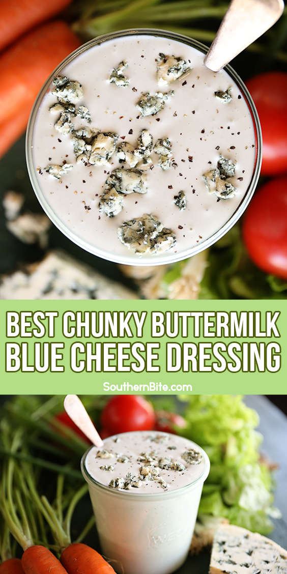 Chunky Buttermilk Blue Cheese Dressing - image for Pinterest