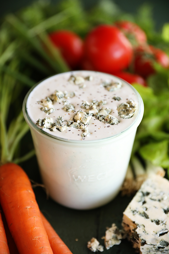 Jar of Chunky Buttermilk Blue Cheese Dressing