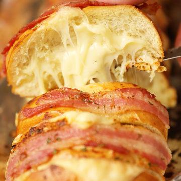 Cheesy Swiss Bacon Ranch Bread