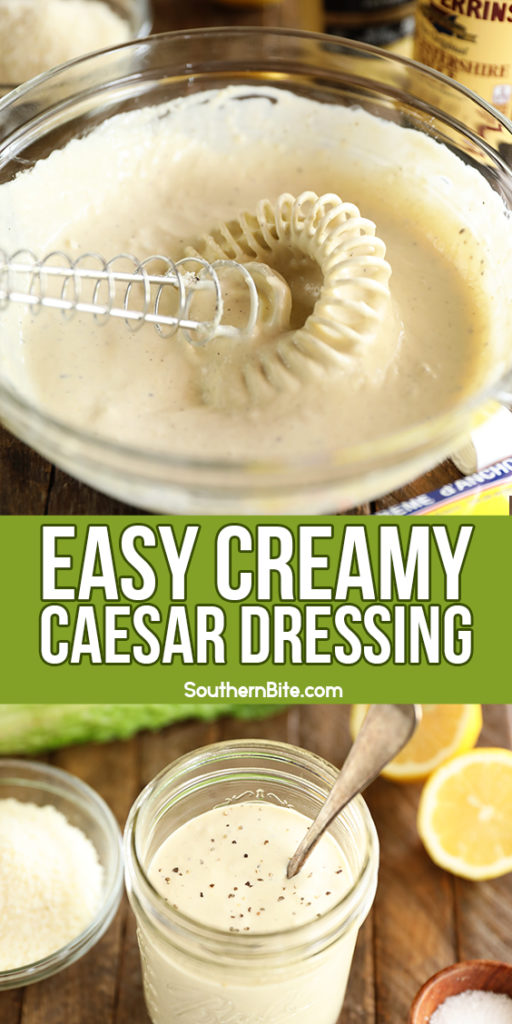 Easy Creamy Caesar Dressing - image for Pinterest