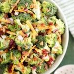 bowl of Easy Broccoli Salad
