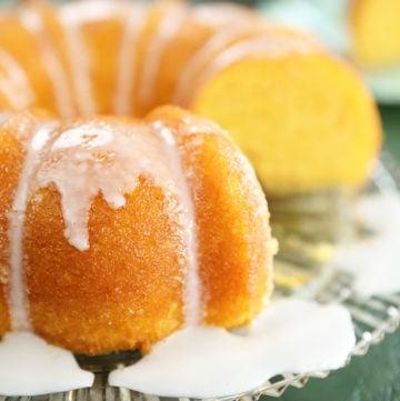 Vintage Lemon Apricot Nectar Cake