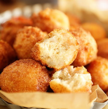 Basket of Sweet Onion Hush Puppies