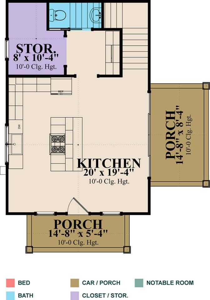 Floor Plan for Test Kitchen - First Floor