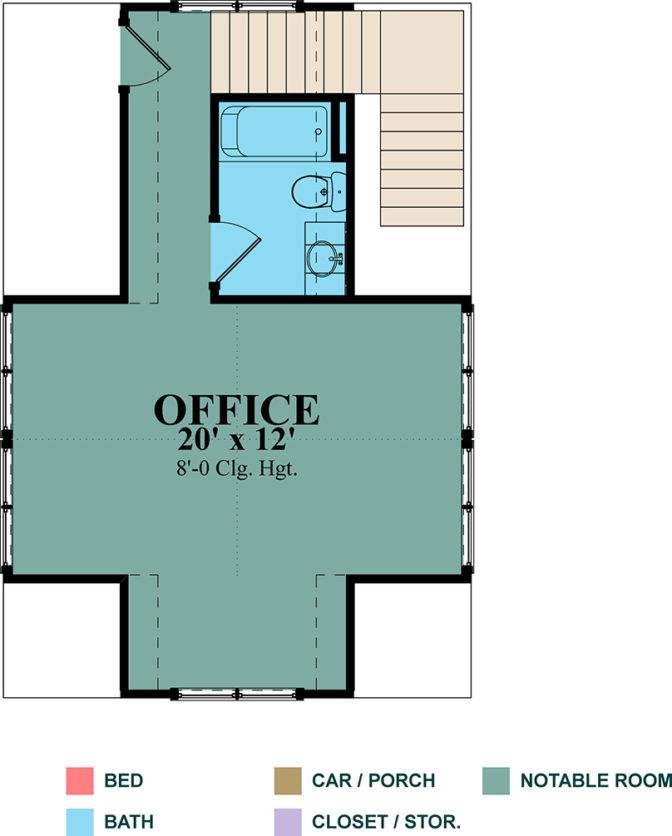 Floor Plan for Test Kitchen - Second Floor