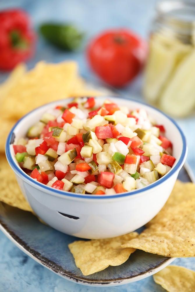 Bowl of Pickle de Gallo
