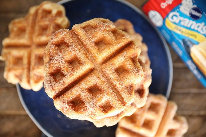 Cinnamon Sugar Biscuit Waffles