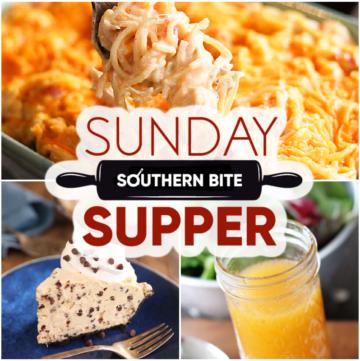 Sunday Supper recipe collage