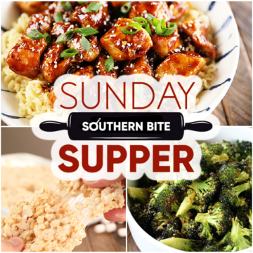 Collage of recipes for Sunday Supper #9