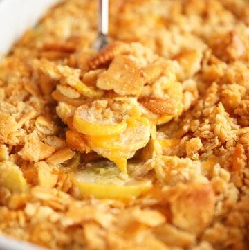 Ultimate Cheesy Squash Casserole