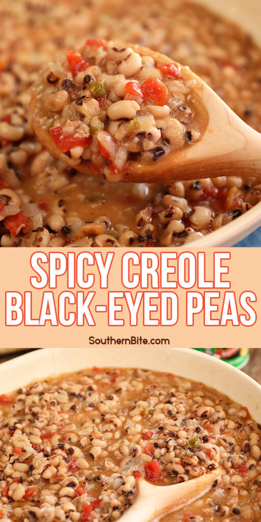 Images of Spicy Creole Black-eyed Peas for Pinterest collage