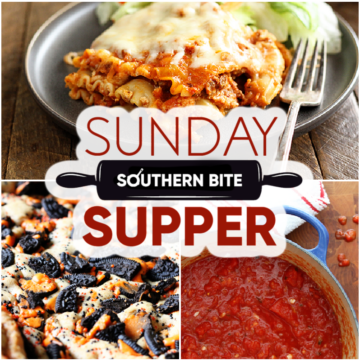 Collage of recipe images for Sunday Supper # 13