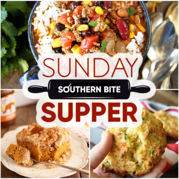 Collage of recipes for Sunday Supper